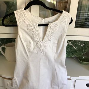 Lilly Pulitzer white top size 2
